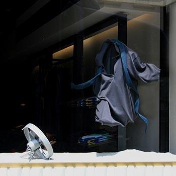 John Smedley knitwear window display London
